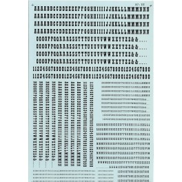 MICROSCALE DECAL 90042 - ALPHABET OLD WEST STYLE BLACK
