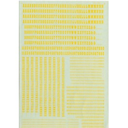 MICROSCALE DECAL 90046 - ALPHABET OLD WEST STYLE YELLOW