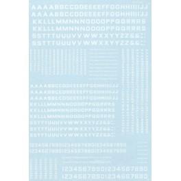 MICROSCALE DECAL 90051 - ALPHABET BLOCK GOTHIC WHITE