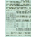 MICROSCALE DECAL 90103 - ALPHABET RAILROAD GOTHIC GOLD