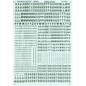 MICROSCALE DECAL 90109 - ALPHABET RAILROAD GOTHIC GREEN