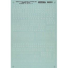 MICROSCALE DECAL 90201 - ALPHABET ZEPHYR GOTHIC WHITE