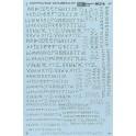 MICROSCALE DECAL 90214 - ALPHABET GRAFFITI STYLE SILVER