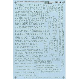 MICROSCALE DECAL 90214 - ALPHABET GRAFFITI STYLE SILVER
