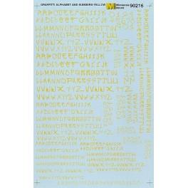 MICROSCALE DECAL 90216 - ALPHABET GRAFFITI STYLE YELLOW
