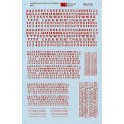 MICROSCALE DECAL 90235 - ALPHABET ORNATE RAILROAD RED