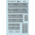 MICROSCALE DECAL 90242 - ALPHABET ORNATE RAILROAD BLACK WITH SILVER SHADOW