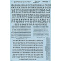 MICROSCALE DECAL 90262 - ALPHABET CIRCUS STYLE BLACK