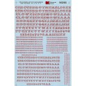 MICROSCALE DECAL 90265 - ALPHABET CIRCUS STYLE RED