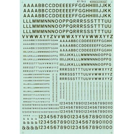 MICROSCALE DECAL 70103 - ALPHABET RAILROAD GOTHIC GOLD