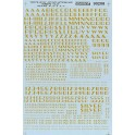 MICROSCALE DECAL 70208 - ALPHABET ZEPHYR GOTHIC DULUX GOLD