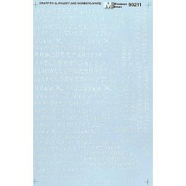 MICROSCALE DECAL 70211 - ALPHABET CIRCUS STYLE WHITE