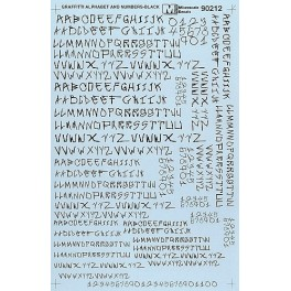 MICROSCALE DECAL 70212 - ALPHABET CIRCUS STYLE BLACK