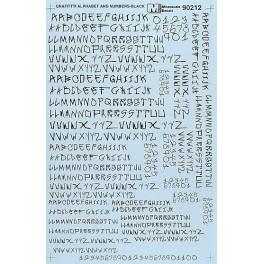 MICROSCALE DECAL 70212 - ALPHABET CIRCUS STYLE BLACK