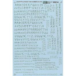 MICROSCALE DECAL 70214 - ALPHABET CIRCUS STYLE SILVER