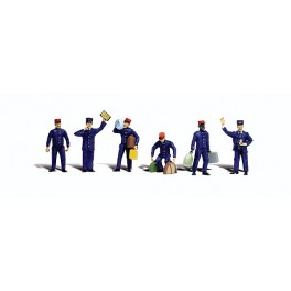 WOODLAND A2722 PAINTED FIGURES - TRAIN PERSONNEL - O SCALE