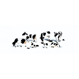 WOODLAND A2724 PAINTED FIGURES - HOLSTEIN COWS - O SCALE