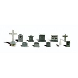 WOODLAND A2726 PAINTED FIGURES - TOMBSTONES - O SCALE