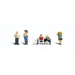 WOODLAND A2728 PAINTED FIGURES - FULL FIGURED FOLKS - O SCALE