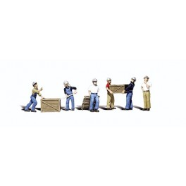 WOODLAND A2729 PAINTED FIGURES - DOCK WORKERS - O SCALE