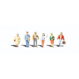 WOODLAND A2730 PAINTED FIGURES - GENERAL PUBLIC - O SCALE