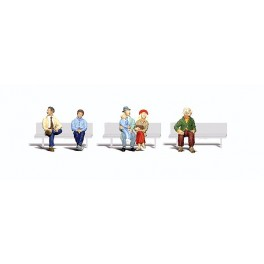 WOODLAND A2731 O SCALE PAINTED FIGURES - SEATED PASSENGERS