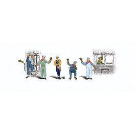 WOODLAND A2733 PAINTED FIGURES - ENGINEERS - O SCALE