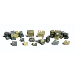 WOODLAND A2739 PAINTED FIGURES - ASSORTED CRATES - O SCALE