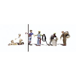 WOODLAND A2742 PAINTED FIGURES - CITY WORKERS - O SCALE