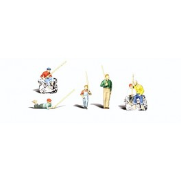 WOODLAND A2751 PAINTED FIGURES - GONE FISHING - O SCALE