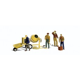 WOODLAND A2753 O SCALE PAINTED FIGURES - MASONRY WORKERS