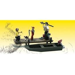 WOODLAND A2756 PAINTED FIGURES - FAMILY FISHING - O SCALE