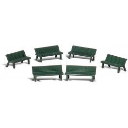 WOODLAND A2758 PAINTED FIGURES - PARK BENCHES - O SCALE