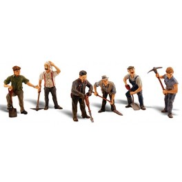 WOODLAND A2761 O SCALE PAINTED FIGURES - ROAD CREW
