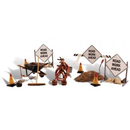 WOODLAND A2762 PAINTED FIGURES - ROAD CREW DETAILS - O SCALE