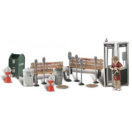 WOODLAND A2764 PAINTED FIGURES - STREET ACCESSORIES - O SCALE