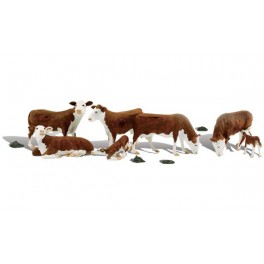 WOODLAND A2767 O SCALE PAINTED FIGURES - HEREFORD COWS