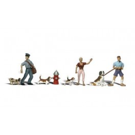 WOODLAND A2768 PAINTED FIGURES - PEOPLE & PETS - O SCALE