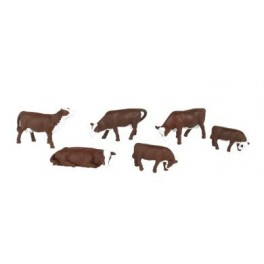 BACHMANN 33152 O SCALE PAINTED FIGURES - BROWN & WHITE COWS
