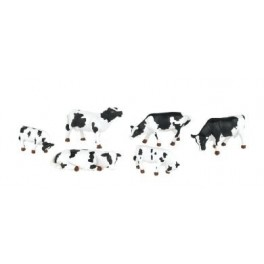 BACHMANN 33153 O SCALE PAINTED FIGURES - BLACK & WHITE COWS - O SCALE