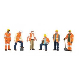 BACHMANN 33156 O SCALE PAINTED FIGURES - MAINTENANCE WORKERS