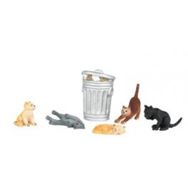 BACHMANN 33157 - PAINTED FIGURES - CATS - O SCALE