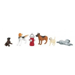 BACHMANN 33158 O SCALE PAINTED FIGURES - DOGS