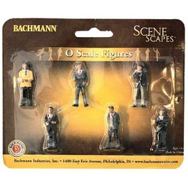 BACHMANN 33162 O SCALE PAINTED FIGURES - BUSINESSMEN