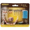 BACHMANN 33164 O SCALE PAINTED FIGURES - BUILDING SITE DETAILS