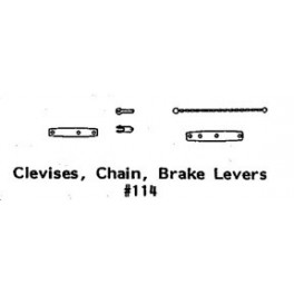 GRANDT LINE 114 - CLEVIS, CHAIN, BRAKE LEVER