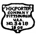 GRANDT LINE 125 - 1906 PORTER BUILDERS PLATE - O SCALE