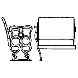 GRANDT LINE 3003 - D&RGW PASSENGER CAR SEATS - O SCALE