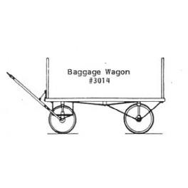 GRANDT LINE 3014 - BAGGAGE WAGON - O SCALE