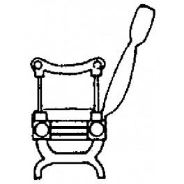 GRANDT LINE 3017 - STANDARD GAUGE WOOD END COACH SEATS - O SCALE